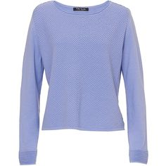 Betty Barclay Chevron Knit Jumper, Lavender Blue ($100) ❤ liked on Polyvore featuring tops, sweaters, boxy sweater, long sleeve knit tops, chevron sweater, ribbed knit sweater and light purple sweater