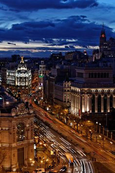 Nighttime, and Madrid is just getting started