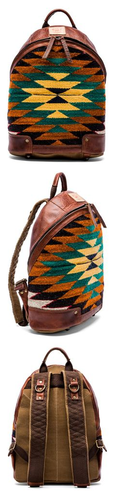 WILL Leather Goods Southwest Inspired Backpack