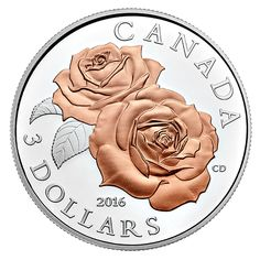 Pure Silver Coin with Selective Rose Gold Plating – Queen Elizabeth Rose Gold Bullion Bars, Bullion Coins, Silver Bullion, Queen Elizabeth Rose, Silver Investing, Coins Worth Money, Canadian Coins, Coin Design, Coin Art