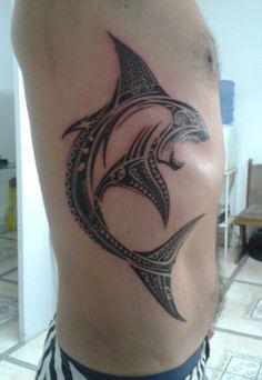 Minha Tatoo Shark Maori