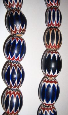 Massive antique chevron beads.  Antique, Venetian made, glass beads.   * MILLEFIORI FANCY AFRICAN JEWELRY AFRICAN TRADE BEADS WEDDING CAKE ANTIQUE VINTAGE ANCIENT ITALIAN VENICE GLASS BEADED OLD HISTORIC NATIVE AMERICAN INDIAN *