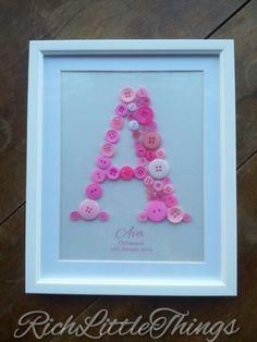 'Name in a Frame' Medium - New Baby - Christening - 1st Birthday Gift £12.00