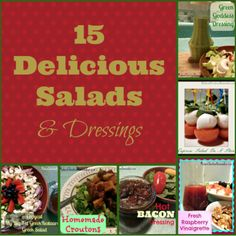 Salad Roundup – 15 Delicious Salads & Dressings