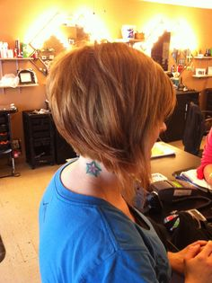 Short stacked bob Done at its a hair thing in Clarksville tN