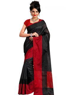 Black Silk Saree With Blouse 118086