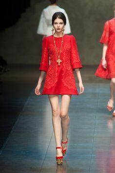 Dolce & Gabbana MFW Winter 2013.