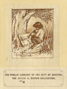 Bookplate for the public library of the City of Boston