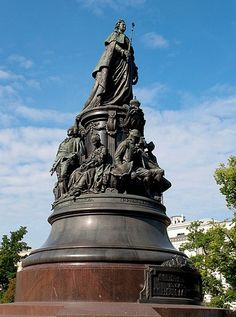 The Monument to Catherine the Great in St. Petersburg