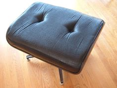 Mid Century Modern Eames Era Ottoman by Charlton. by DivaInTheDell