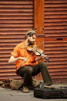 Scottish Street Musician