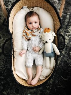 Baby must haves that you actually need. Moses basket and Snuggle Me Organic lounger