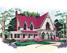 House plan number 81265W - a beautiful 4 bedroom, 3 bathroom home.