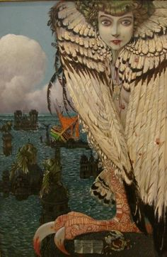 Siren by Gustav-Adolf Mossa, (French 1883-1971)
