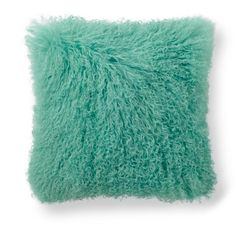 Mongolian Sheep Fur Throw Pillow