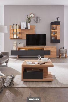 Attraktives Design und ausgeprägte Funktionalität - HOME Living Room Tv Unit, Living Room Modern, Home Living Room, Living Room Designs, Home Decor Furniture, Home Furnishings, Tv Unit Interior Design, Living Room Decor Inspiration, Interiores Design