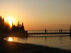 Main pier at Clear Lake in Riding Mountain National Park, Manitoba, Canada. Riding Mountain National Park, Parks Canada, Western Canada, Clear Lake, Natural Phenomena, Sacred Heart, Trip Planning, Beaches, Vacations