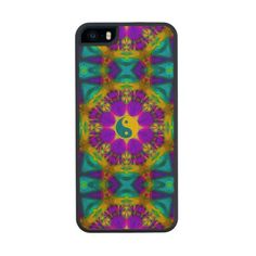 Yin yang 70's 1 carved® maple iPhone 5 case
