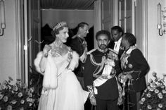 Queen Ingrid wore this tiara for a dinner during the Ethiopian State Visit in 1954.