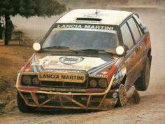 Lancia Delta Integrale rally car Road Race Car, Off Road Racing, Sports Car Racing, Sport Cars, Auto Racing, Pajero Off Road, Carros Suv, Rally Raid, Martini Racing