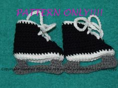 Hockey Skate Baby Booties Pattern (my grandma can make these for the baby) :)