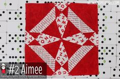 Block #13 Farmer's Wife 1930's Sampler Quilt - Learn to make the blocks with Angie Wilson of GnomeAngel.com