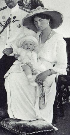Grand Duchess Olga Nikolaevna of Russia and her cousin Micea