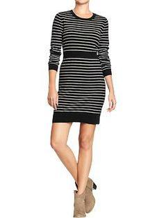 Women's Striped Sweater Dresses $27.95 @ OldNavy.gap.com