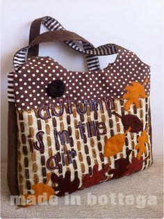 borsa realizzata con i colori dell'autunno
