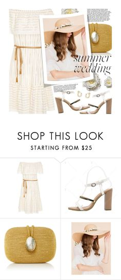 """Say I Do: Summer Weddings"" by beebeely-look ❤ liked on Polyvore featuring Miguelina, Kayu, wedding, summerwedding, summersandals, bestdressedguest and twinkledeals"