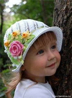 Crochet Summer Hats, Crochet Kids Hats, Crochet Diy, Crochet Amigurumi Free Patterns, Crochet Girls, Crochet Mandala, Crochet Ideas, Sombrero A Crochet, Flower Hats