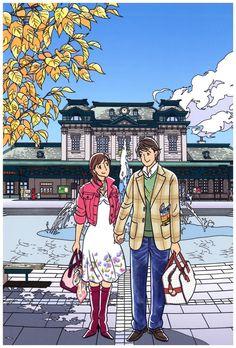 Amazon.co.jp: わたせせいぞう ポストカード 『Retro Romance』(W07006T): 文房具・オフィス用品 Pop Art Illustration, Japanese Illustration, Art Sketches, Art Drawings, Cute Girl Drawing, Manga Artist, Anime Comics, Japanese Art, Art Inspo