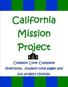 California 4th graders typically do a Mission Project as part of their California social studies learning. The Teacher Next Door's Mission Project is a 16 page unit filled with everything you'll need to help your students create a top quality report and presentation. $