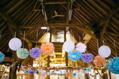 Jade and Carl's Cake Loving Homemade Wedding. By Corrado Chiozzi Paper Pom Poms, Boho Wedding, Wedding Ideas, Homemade, Love, Weddings, Amor, Paper Poms, Home Made