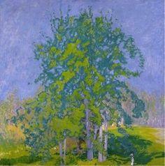 Ellen Thesleff Landscape Art, Landscape Paintings, Tree Paintings, Gelli Arts, Canadian Art, Elements Of Art, Vincent Van Gogh, Tree Art, Claude Monet