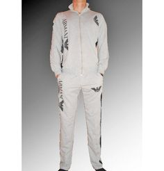 New 2012 Emporio Armani Mens Tracksuit      Fabric: Cotton and Elastan      High quality double reinforced seam!!!    Brand new with tags!