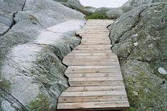 custom wooden path