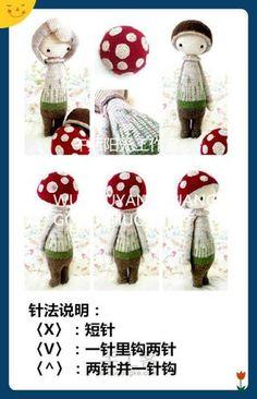 堆糖-美好生活研究所 Crochet Dolls, Crochet Baby, Knit Crochet, Lalaloopsy, Cute Baby Animals, Animal Babies, Amigurumi Doll, Doll Toys, Diy And Crafts