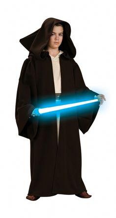 Unisex Kids Girls Boys Long Brown Space Star Brown Cloak Hood Sci-fi Fancy Dress