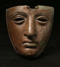 Roman bronze helmet face mask  1st century AD #Mask