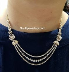 New jewerly necklace simple diamond bijoux Ideas Diamond Necklace Simple, Gold Jewelry Simple, Diamond Pendant Necklace, Diamond Jewelry, Gold Jewellery, Diamond Rings, Diamond Bracelets, Simple Necklace Designs, Gold Necklace