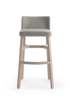 Design: Emilio NanniThe stylish Croissant bar stool with back rest comprises of… Island Stools, Stools For Kitchen Island, Side Chairs, Dining Chairs, Bar Stools With Backs, Designer Bar Stools, Upholstered Stool, High Stool, Modern Stools