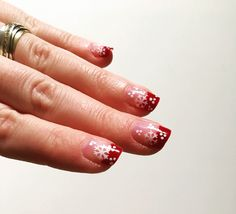 Winter nail art with snow flakes
