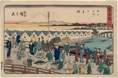 No. 1 - Nihonbashi, from the series The Tôkaidô Road - The Fifty-three Stations (Tôkaidô - Gojûsan tsugi), also known as the Reisho Tôkaidô | Museum of Fine Arts, Boston