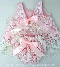Charolette Lace 2 Pce Swing Romper Pink