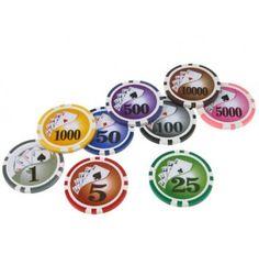 De standaard Royal Flush chipserie is het kleine broertje van de Laser Royal Flush serie poker chips.   Deze serie is voorzien van hetzelfde design op de inlay. Echter is de inlay niet gelaserd en wegen deze plastic fiches 11,5 gram, in tegenstelling tot de luxe clay composite Laser Royal Flush chips die 13,5 gram wegen.