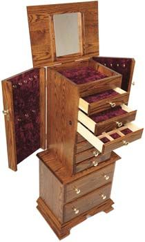 Wood Jewelry Armoire