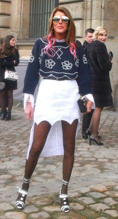 Анна Делло Руссо на шоу Dior F/W 2016/2017 на неделе моды в Париже
