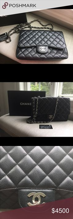 Large 2.55. Chanel Flap bag Caviar Leather bag Large 2.55 Caviar Leather Flap bag so classic gorgeous and a staple for any fashionista wardrobe CHANEL Bags Shoulder Bags
