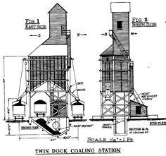 Train Depot Blueprints | Twin Dock Coaling Station ( secondfig )